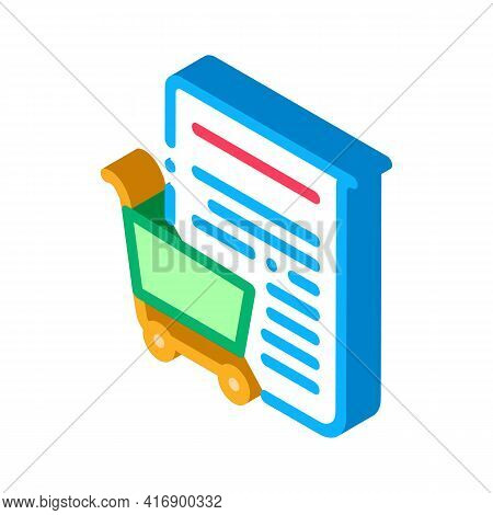 Buying Services Of Audit Company Color Icon Vector. Isometric Buying Services Of Audit Company Sign.