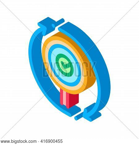 Accept Audit Report Color Icon Vector. Isometric Accept Audit Report Sign. Color Isolated Symbol Ill