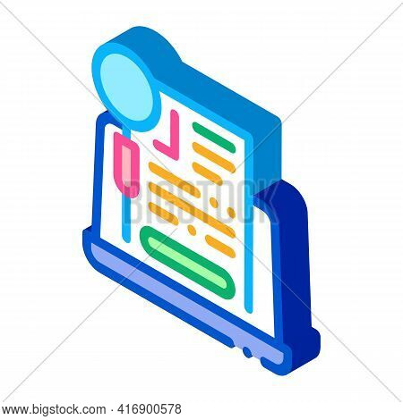 Agreement Research Identity Color Icon Vector. Isometric Agreement Research Identity Sign. Color Iso