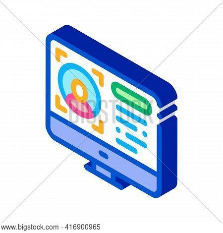Internet Account Identity Color Icon Vector. Isometric Internet Account Identity Sign. Color Isolate