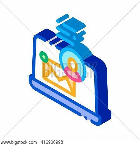 Electronic Mail For Identity Color Icon Vector. Isometric Electronic Mail For Identity Sign. Color I