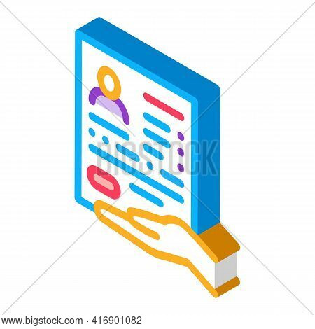 Questionnaire For License Color Icon Vector. Isometric Questionnaire For License Sign. Color Isolate