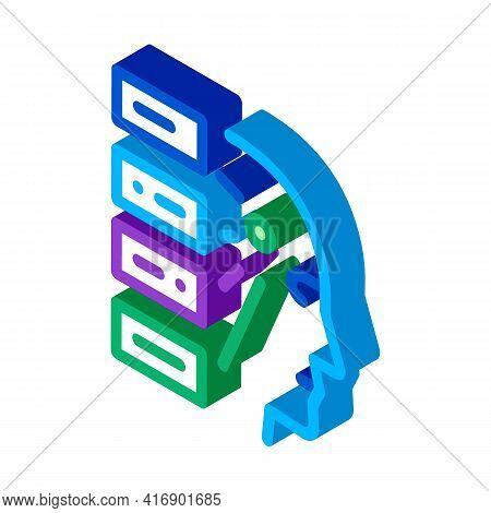 Algorithm Machine Learning Color Icon Vector. Isometric Algorithm Machine Learning Sign. Color Isola