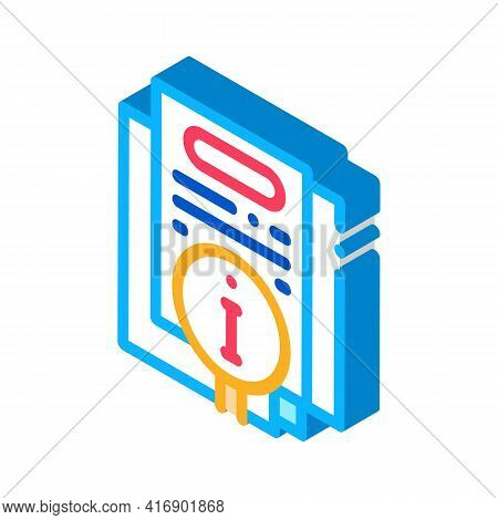 Corporate Compliance Policy Color Icon Vector. Isometric Corporate Compliance Policy Sign. Color Iso
