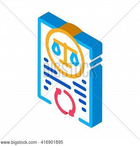 Legal Regulation Policy Color Icon Vector. Isometric Legal Regulation Policy Sign. Color Isolated Sy
