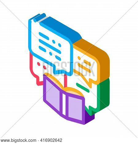 Story Researcher Color Icon Vector. Isometric Story Researcher Sign. Color Isolated Symbol Illustrat