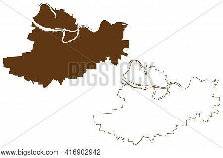 Straubing City (federal Republic Of Germany, Urban District Lower Bavaria, Free State Of Bavaria) Ma