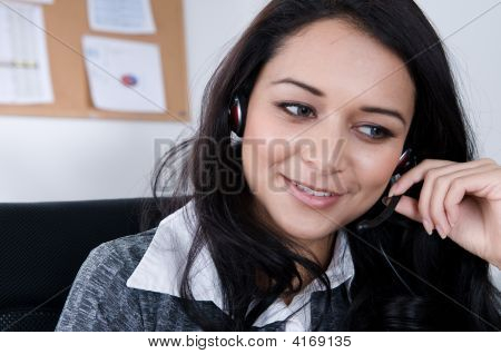 Female Worker On The Phone