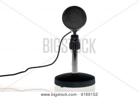 Black Microphone Front