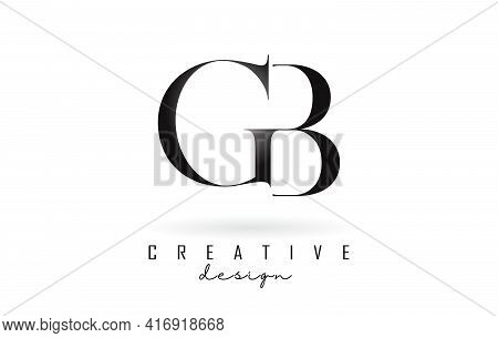 Gb G B Letter Design Logo Logotype Concept With Serif Font And Elegant Style. Vector Illustration Ic