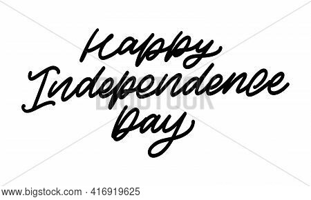 4th Of July Independence Day Lettering Background