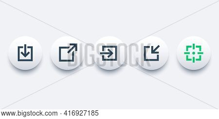 External Link, Download, Login And Repost Icons