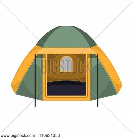 Tent Vector Icon.cartoon Vector Icon Isolated On White Background Tent.