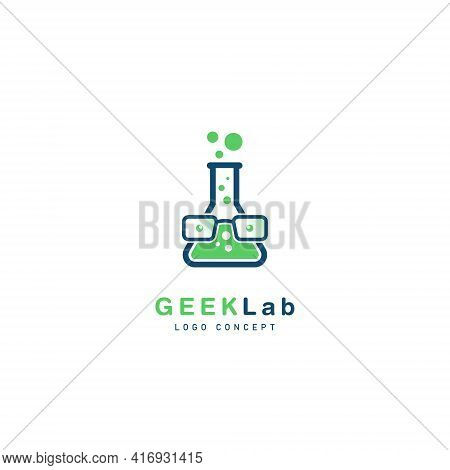 Geek Lab Logo Symbol Design Template Flat Style Vector