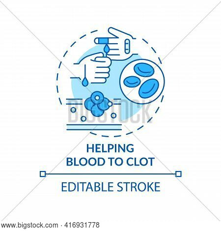 Helping Blood To Clot Concept Icon. Liver Function Idea Thin Line Illustration. Thrombolytic Treatme