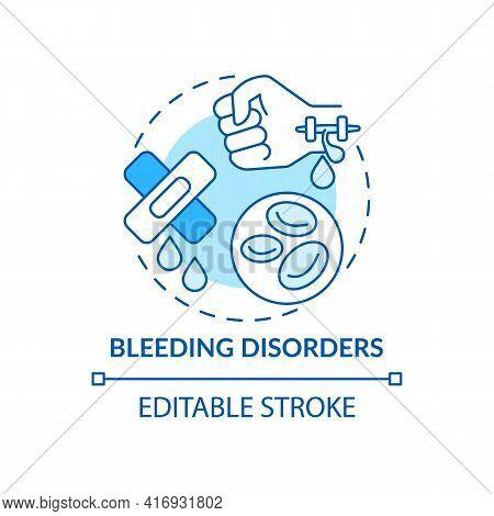 Bleeding Disorders Concept Icon. Liver Failure Outcome Idea Thin Line Illustration. Sufficient Blood
