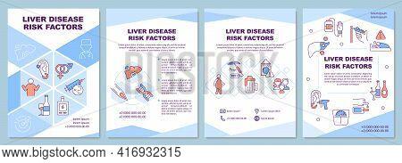 Liver Disease Risk Factors Brochure Template. Obesity, Alcoholism. Flyer, Booklet, Leaflet Print, Co