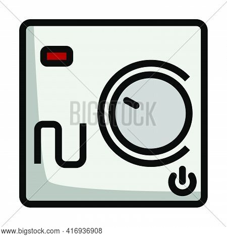 Warm Floor Wall Unit Icon. Editable Bold Outline With Color Fill Design. Vector Illustration.