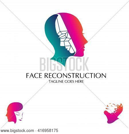 Face Reconstruction Or Face Mask Vector Logo Concept