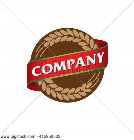 Bakery Emblem Logo. Vector. A Circle Logo For Bakery Business