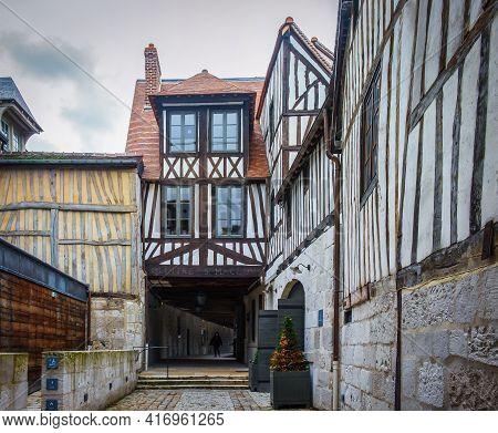 Rouen, France, Oct 2020, View Of The Entrance Of The Aitre Saint Maclou
