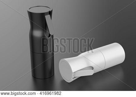 Portable Pocket Sprayer Fine Pressure Alcohol Pump Spray Nano Mist Sprayer With Bottle. 3d Illustrat