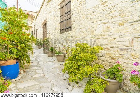 November 2020. Kato Drys In Larnaca District, Cyprus. The Traditional Village Of Kato Drys In Cyprus