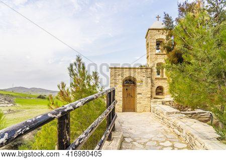 December 2020. Kellia, Larnaca District, Cyprus. Our Lady Of Eleoisa Or Panagia Eleoisa Church In Ke