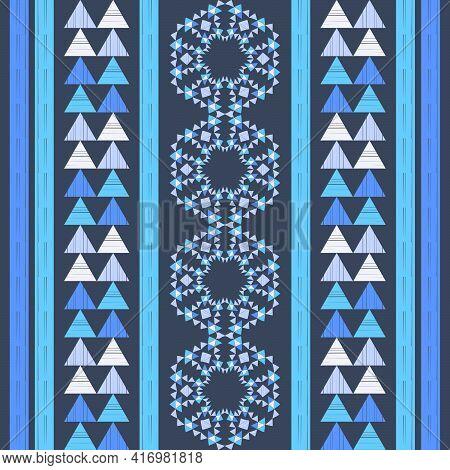 Mexican Plaid. Navajo. Seamless Pattern.
