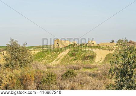 January 2021 Nicosia District, Cyprus. Agios Sozomenos An Abandoned Village In Cyprus