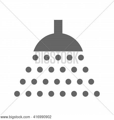 Shower Icon. Shower With Water Drips. Vector Isolated On White.