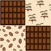 Coffee and chocolate design. Seamless backgrounds. Vector illustration. poster