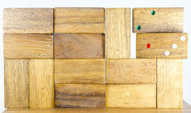 Wooden domino with 2013