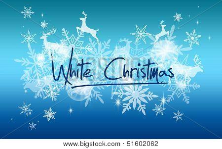 White Christmas snow background
