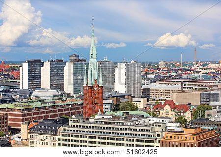 Sankt Johannes Kyrka And Other Buildings In Stockholm, Sweden