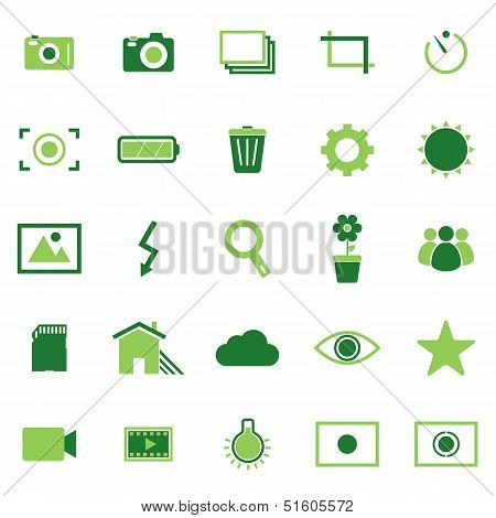 Photography Color Icons On White Background