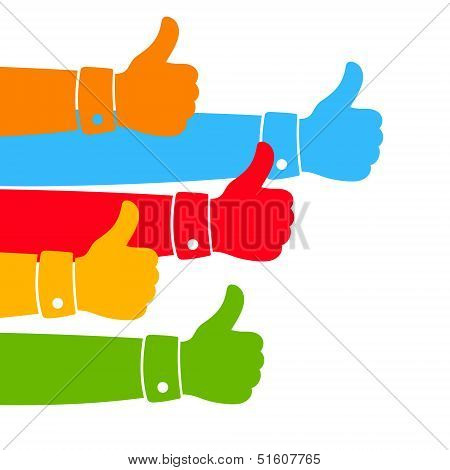 Like and Thumbs Up illustration.