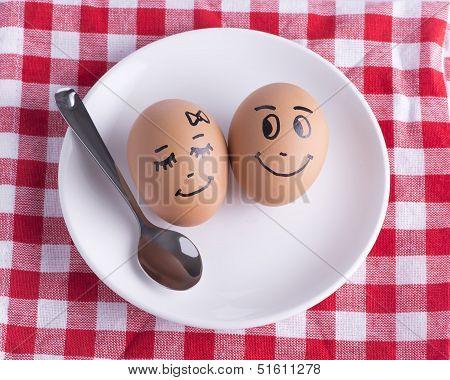 love eggs couple concept