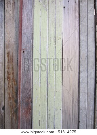 Vertical Image of Colored Weathered Woo