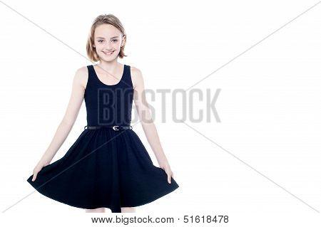 Beautiful Girl In Trendy Sleeveless Attire