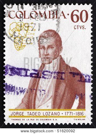 Postage Stamp Colombia 1967 Jorge Tadeo Lozano, Naturalist