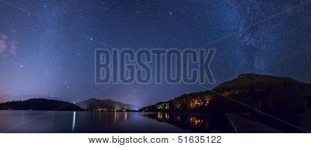 Alta Lake In Whistler Under The Stars