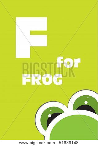 F For The Frog, Alphabet For The Children