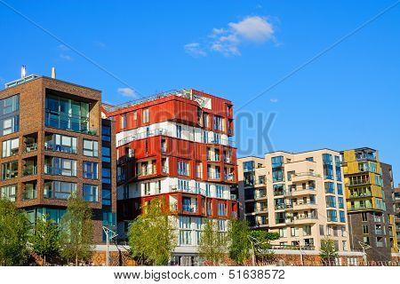 Luxury apartment houses in Hamburg