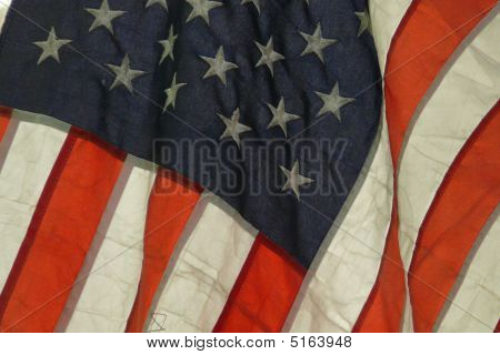Close-up American Flag