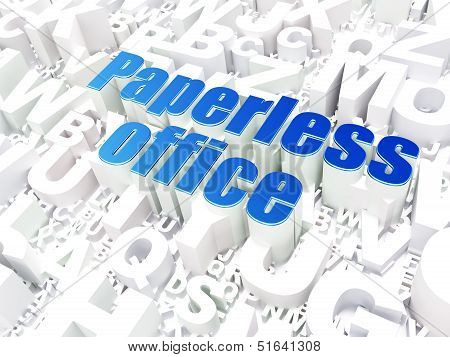 Business concept: Paperless Office on alphabet background