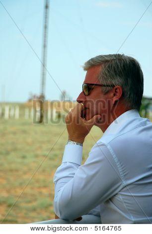 Crown Prince Philippe Of Belgium Is Watching Soyuz Spacecraft Launch