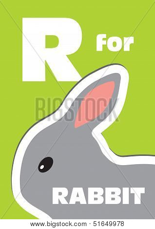 R For The Rabbit, An Animal Alphabet For The Kids