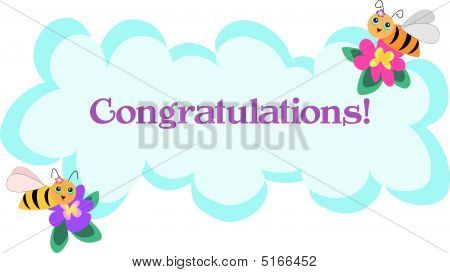 Bee Frame Of Congratulations