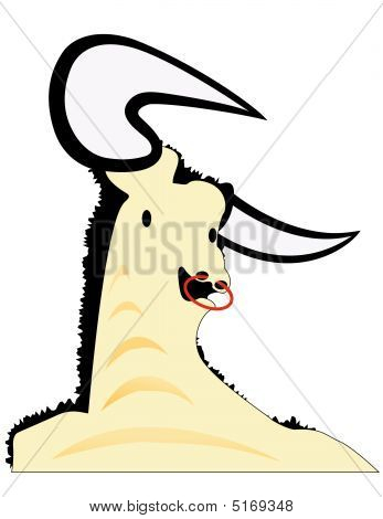 Bull With Horns Illustration